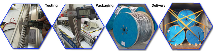 the testing, packaging and delivery of aerial service drop cable