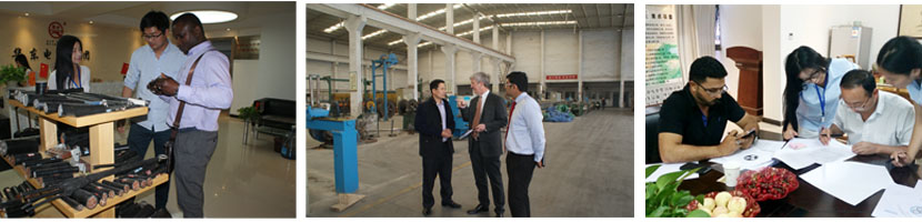 aluminum quadruplex cable customer visiting