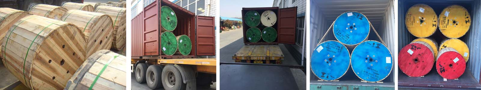 copper armoured cable transportation