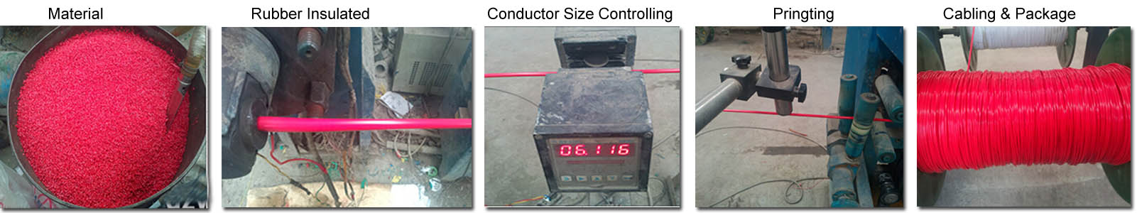rubber cable production process