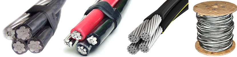 Quadruplex service drop wire cable