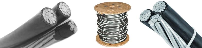 Triplex service drop cable wire