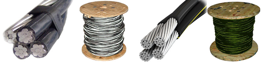 quadruplex 2 2 2 4 aluminum wire
