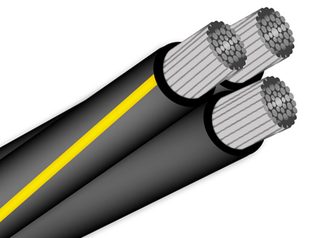 triplex 2 2 4 aluminum URD Wire